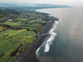 Indonesia, Bali, Aerial view of Keramas beach - KNTF02473