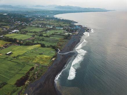 Indonesia, Bali, Aerial view of Keramas beach - KNTF02473