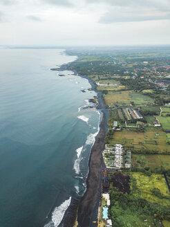 Indonesia, Bali, Aerial view of Keramas beach - KNTF02476