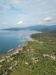 Indonesia, Bali, Aerial view of Candidasa - KNTF02489