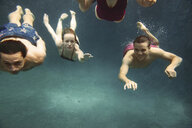 Friends swimming in pool - CAVF59425