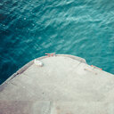 High angle view of a deserted swimming area in the sea - INGF09732