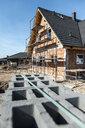 Bulgaria, Plovdiv, one-family house under construction - DEGF00961