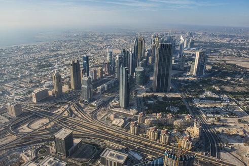UAE, Dubai, Highrise building in Down Town Dubai - RUNF00362