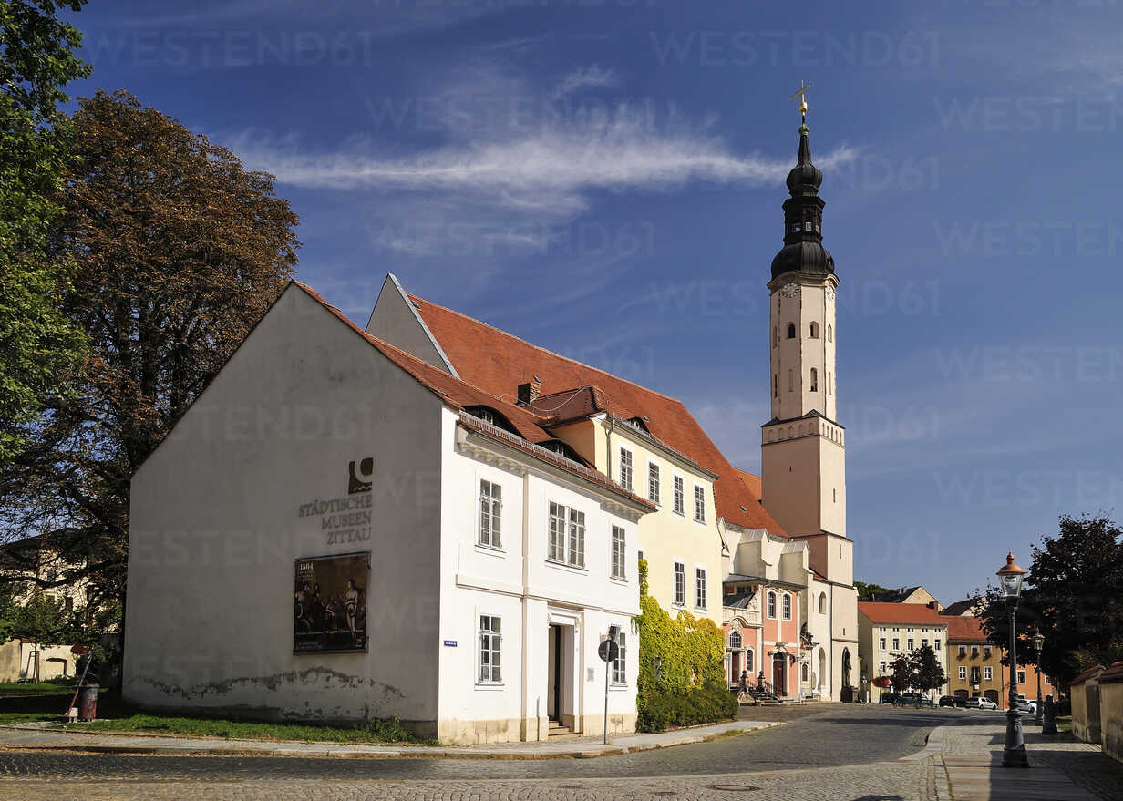 Germany Saxony Zittau Dr Curt Heinke Museum And Conventual Church St Peter And Paul Stockphoto