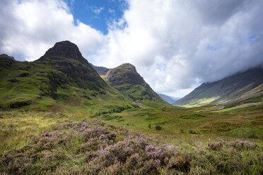 Großbritannien, Schottland, Highlands, Blick durch das Glen Coe - ELF01989