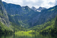 Germany, Bavaria, Upper Bavaria, Berchtesgaden Alps, Berchtesgaden National Park, Lake Koenigssee - RUNF00409