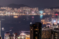 Hong Kong, Causeway Bay, cityscape at night - DAWF00781