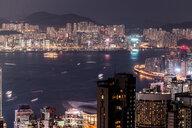 Hong Kong, Causeway Bay, cityscape at night - DAWF00781