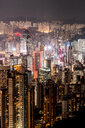 Hong Kong, Causeway Bay, cityscape at night - DAWF00784