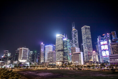 Hong Kong, Central, cityscape at night - DAWF00811