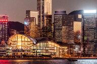Hong Kong, Tsim Sha Tsui, cityscape at dusk - DAWF00817