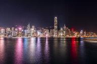 Hong Kong, Tsim Sha Tsui, cityscape at night - DAWF00820
