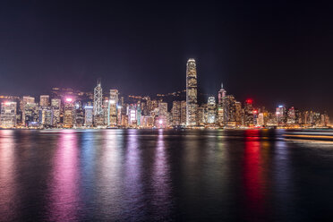 Hong Kong, Tsim Sha Tsui, cityscape at night - DAWF00820