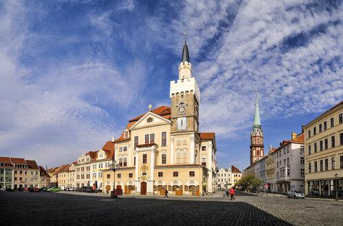 Germany, Saxony, Loebau, Altmarkt, Townhall - BTF00505