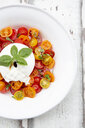 Plate of tomato salad with Burrata - LVF07600