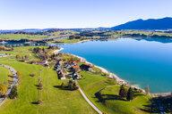Germany, Bavaria, East Allgaeu, Region Fuessen, Dietringen, Aerial view of Forggensee lake - AMF06451