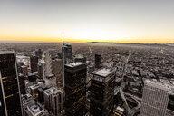 USA, California, Los Angeles, cityscape at twilight - DAWF00839