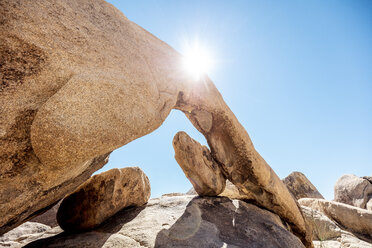 USA, California, Los Angeles, Joshua Tree National Park, rock formation in sunshine - DAWF00860