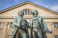 Germany, Weimar, Goethe-Schiller Monument - KEBF01023