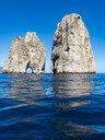 Italy, Capri, Gulf of Naples, Punta di Tragara, Faraglioni - AMF06473