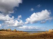 France, Bretagne, Plougrescant, Cote de Granit Rose, rocky coast at Pointe du Chateau - LAF02196