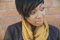 Woman looking away outdoors - HEROF00386