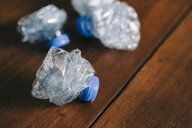Crumpled, recycled plastic water bottles - FSIF03502