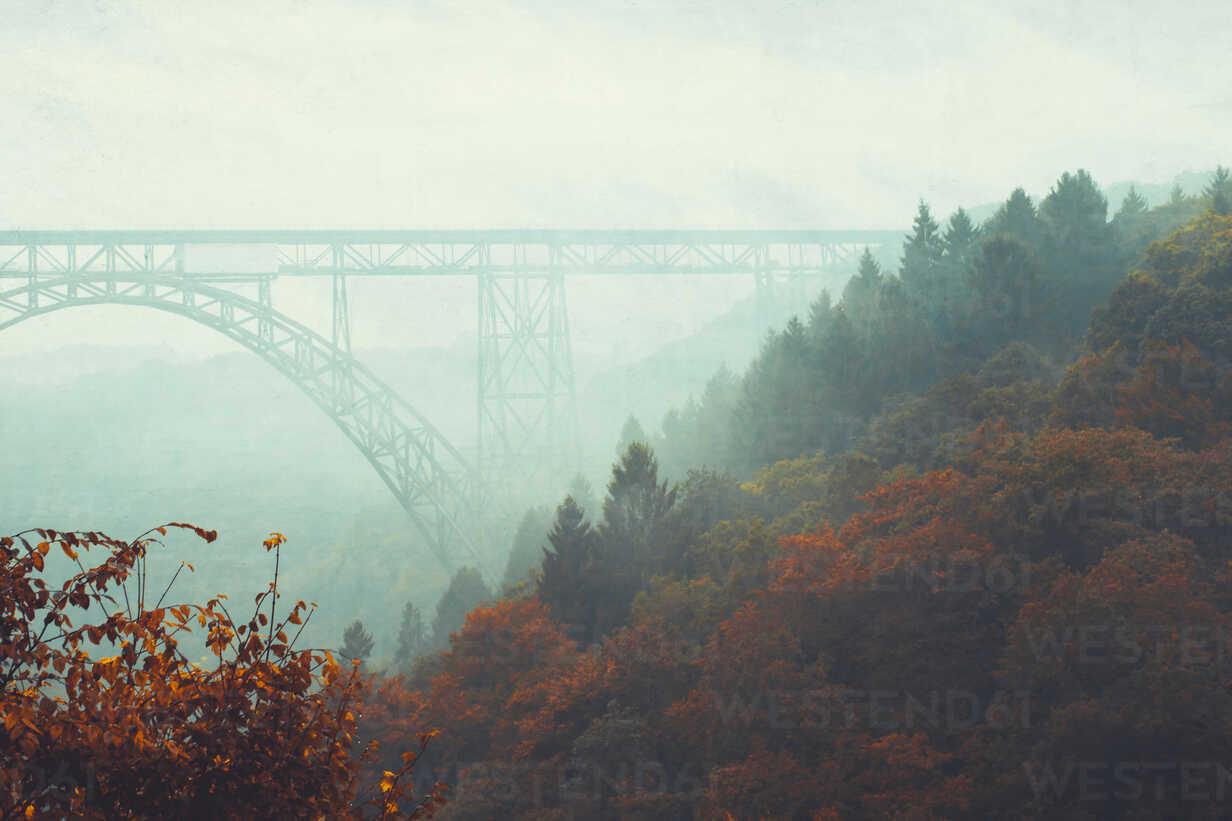 Bridge and fog in autumn - DWIF00963 - Dirk Wüstenhagen/Westend61