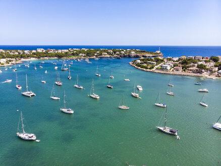 Spain, Baleares, Mallorca, Portocolom, Punta de ses Crestes, Bay of Portocolom - AMF06506