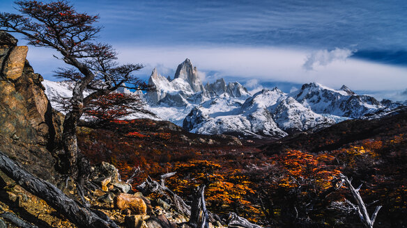 Scenic view of  snow-capped mountains  during autumn. - INGF10531
