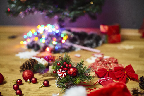 Christmas decoration on wooden floor - BZF00471