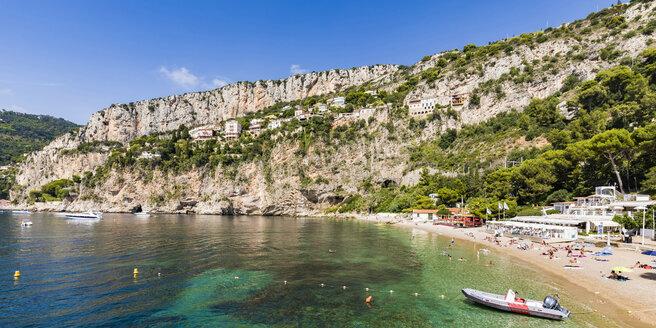 France, Provence-Alpes-Cote d'Azur, Cap-d'Ail, Plage Mala - WDF04983