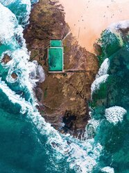 High angle view of rocks by the sea - INGF11096