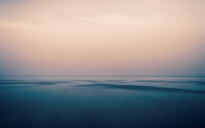 Tranquil scene of the calm sea during sunset - INGF11183