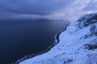Vestvagoya coastline in winter, Lofoten, Norway - AURF07919