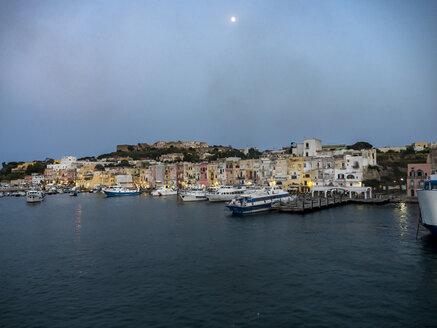 Italy, Campania, Naples, Gulf of Naples, Procida Island, Marina di Sancio Cattolico in the morning light - AMF06514