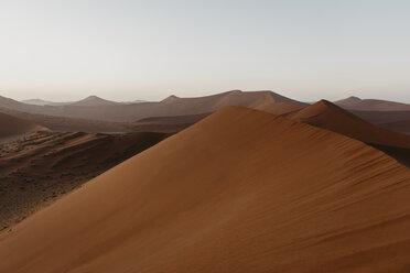 Namibia, Namib desert, Namib-Naukluft National Park, Sossusvlei, sunset at Dune 45 - LHPF00236
