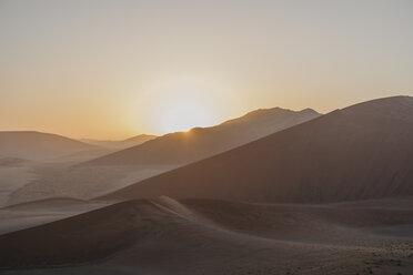 Namibia, Namib desert, Namib-Naukluft National Park, Sossusvlei, sunset at Dune 45 - LHPF00239