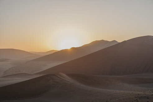 Namibia, Namib desert, Namib-Naukluft National Park, Sossusvlei, sunset at Dune 45 - LHPF00239