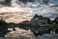 Scenic view of the mountains reflecting into the lake - INGF11310