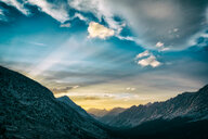 Scenic nature view of the mountains during sunset - INGF11427