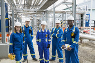 Portrait of workers at gas plant - HEROF02321