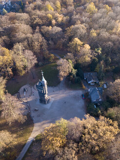 Germany, Wuppertal, Aerial view of Elise tower in autumn - SKAF00103