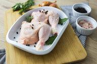 Raw chicken in gratin dish - GIOF05277