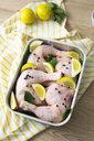 Raw chicken in gratin dish - GIOF05280