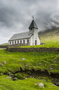 Denmark, Faroe islands, Vidareidi church in Vidoy - RUNF00548
