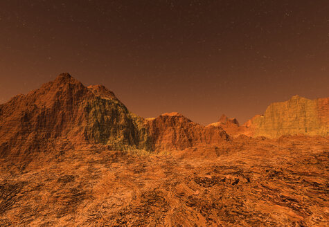 3D rendered Illustration of the surface of Planet Mars - SPCF00298