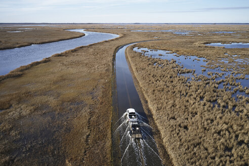 USA, Maryland, Cambridge, High tide flooding from rising sea levels at Blackwater National Wildlife Refuge - BCDF00371