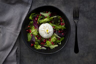 Oriental salad with mint, pistachios, pomegranate seeds and burrata cheese - LVF07635